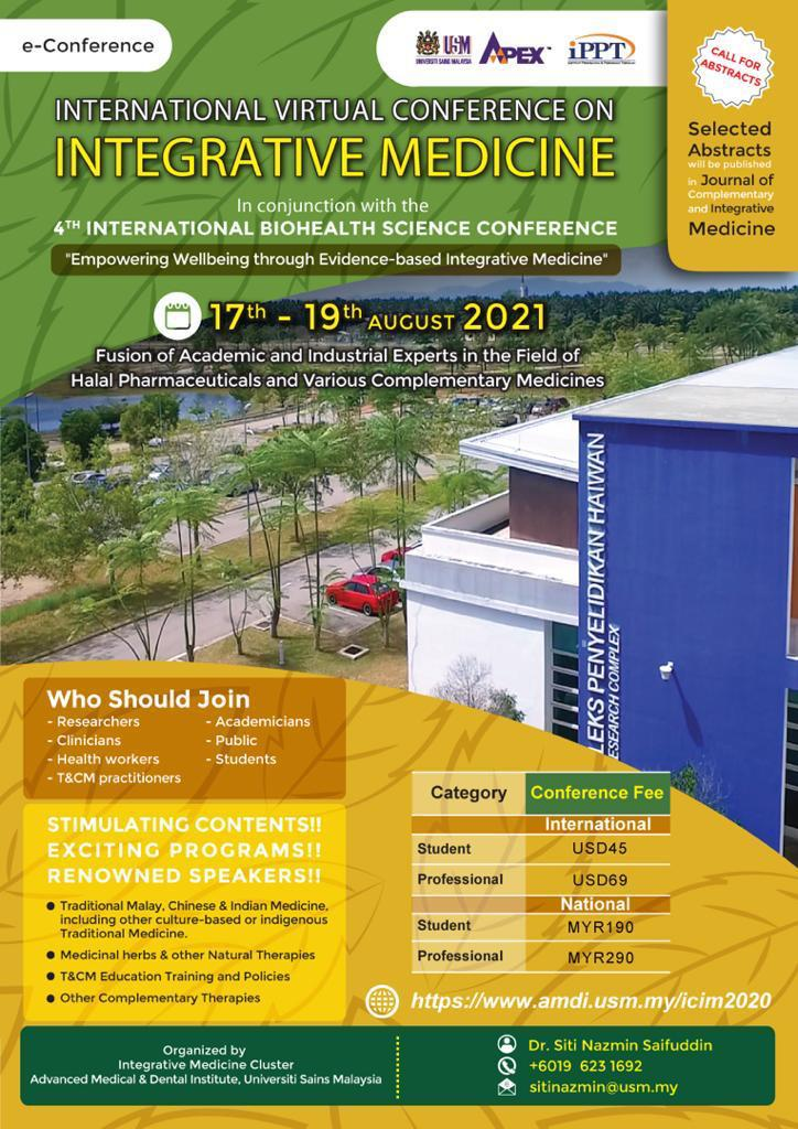 An e-Conference with fusion of academic and industrial experts in the field of halal pharmaceuticals and various complementary medicines
