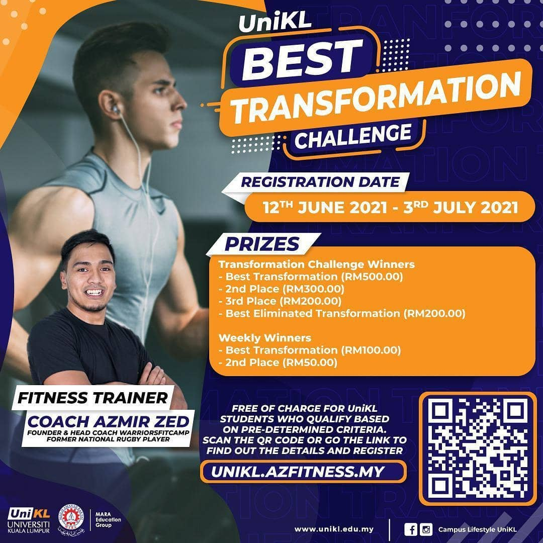 A fitness and health challenge with a spark of fun for UniKL students during the lockdown.