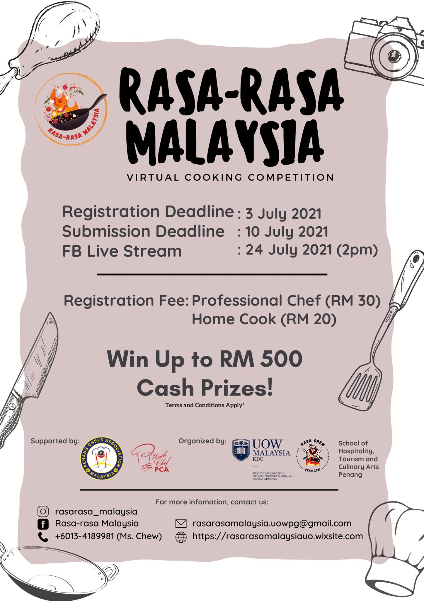 The Rasa-rasa Malaysia Virtual Cooking Competition