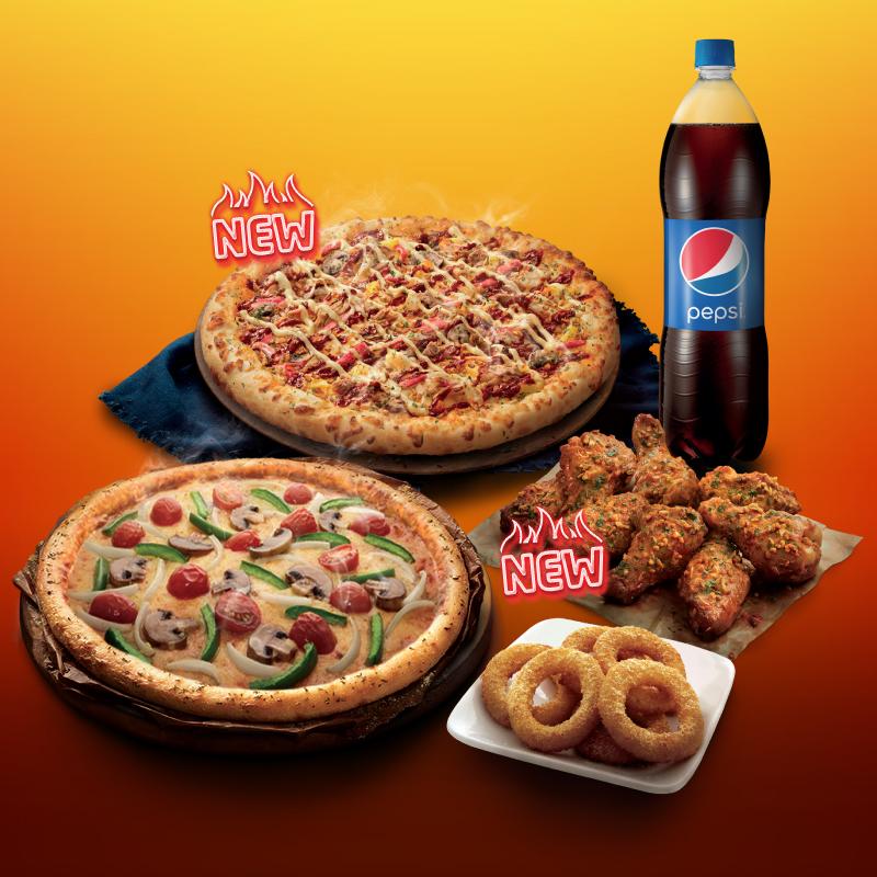 Senang Menang with Domino's! The More You Eat, The More You Win
