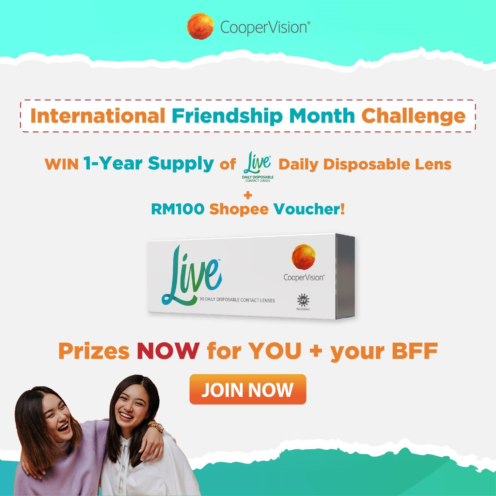 International Friendship Month is here and CooperVision wants to celebrate with you and your bestie!