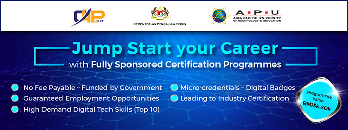 APU To Offers Fully Sponsored Certification Programmes For The Unemployed Fresh Graduates!