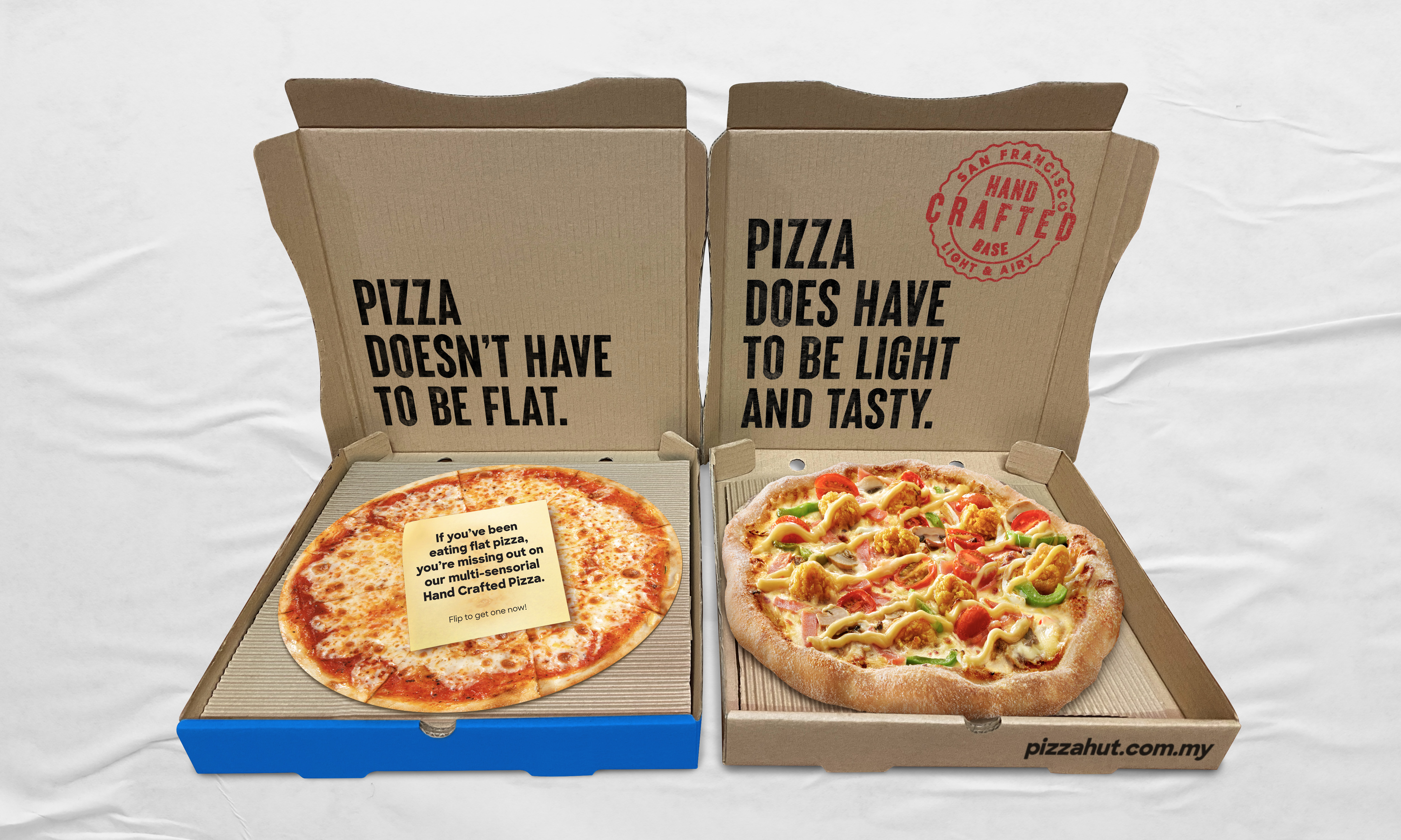 Bored Of Typical Pizzas? Get Pizza Hut's New Hand-Crafted Pizza For FREE!
