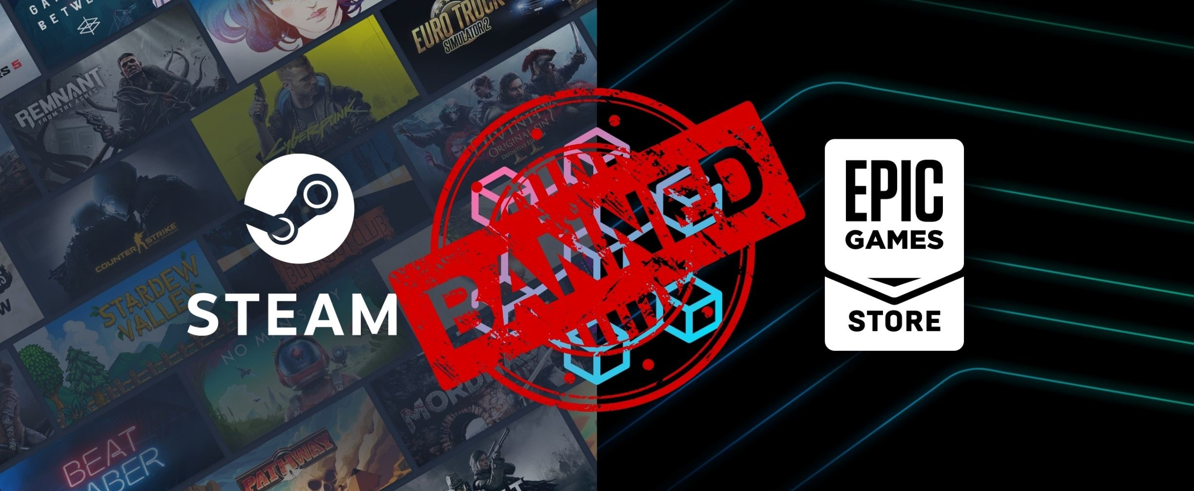 Steam Bans Blockchain Based Games But Epic Games Thinks Otherwise