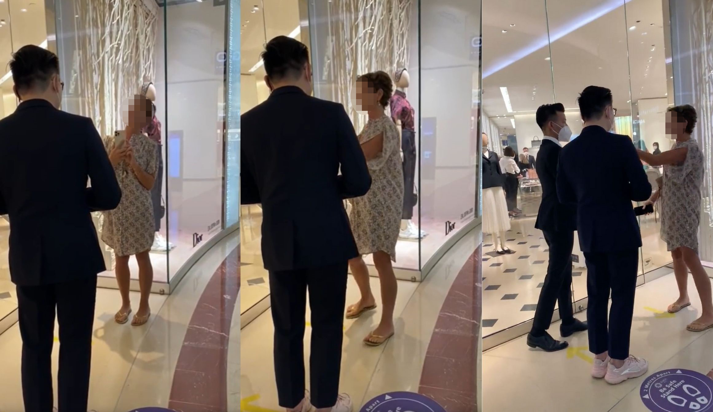 """Maskless """"Karen"""" Goes Viral After Denied Entry Into Dior Boutique In KLCC"""